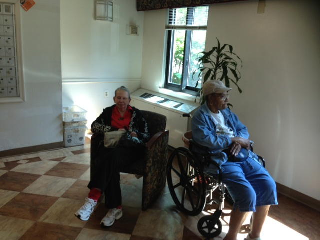Recipients at the Cottage City senior home