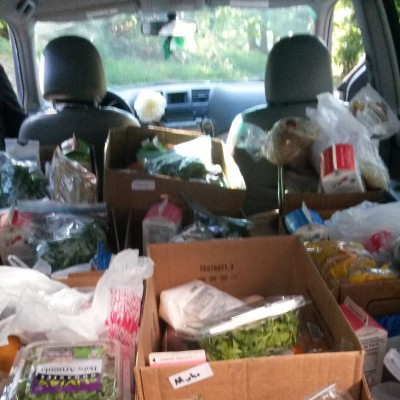 1st load of the weekly food deliveries to individuals and families