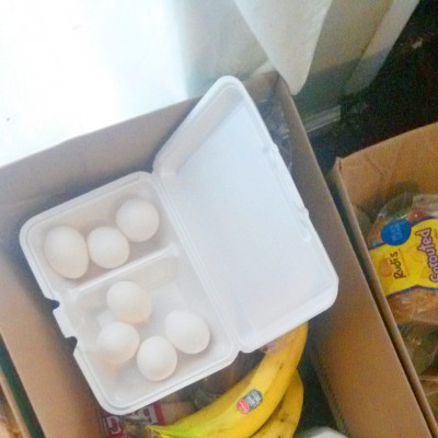 A completed box ready for a FEED recipient